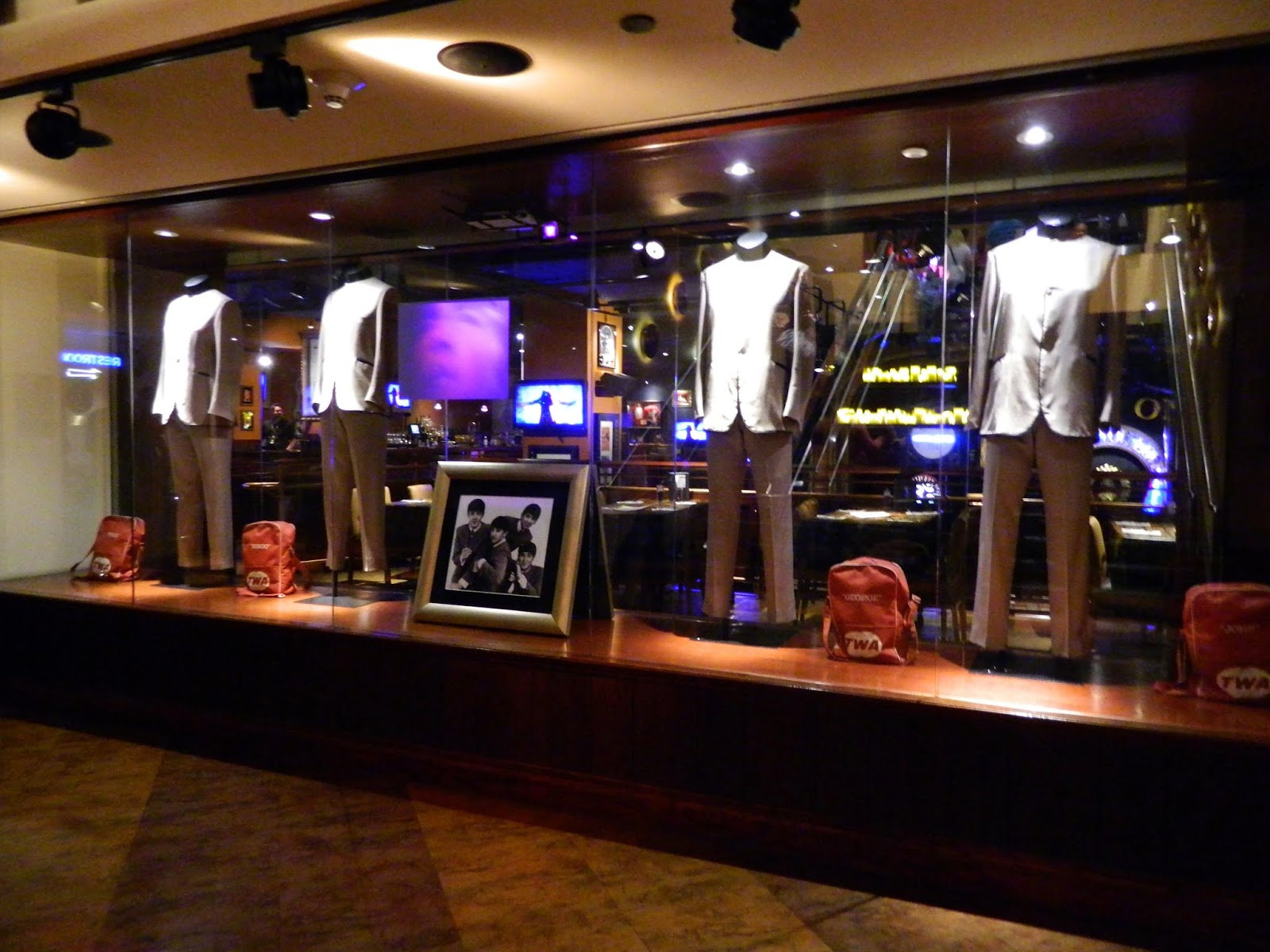 new york city times square hard rock cafe the beatles suits