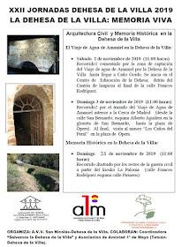 XXII Jornadas Dehesa de la Villa 2019