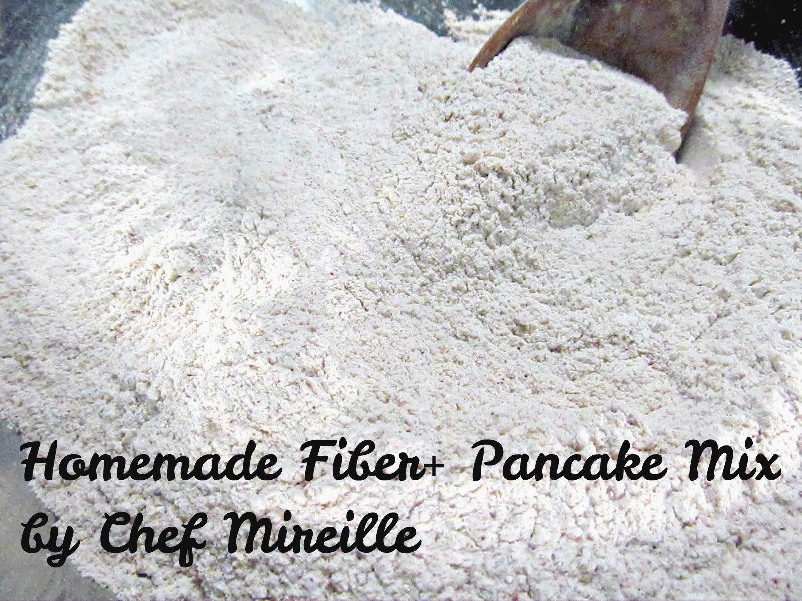 homemade fiber+ pancake mix