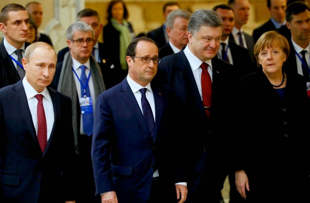 Angela Merkel, donyecki szakadárok, Kelet-Ukrajna, minszki tárgyalások, Oroszország, Ukrajna, ukrán válság, Vlagyimir Putyin, ukrán tűzszünet