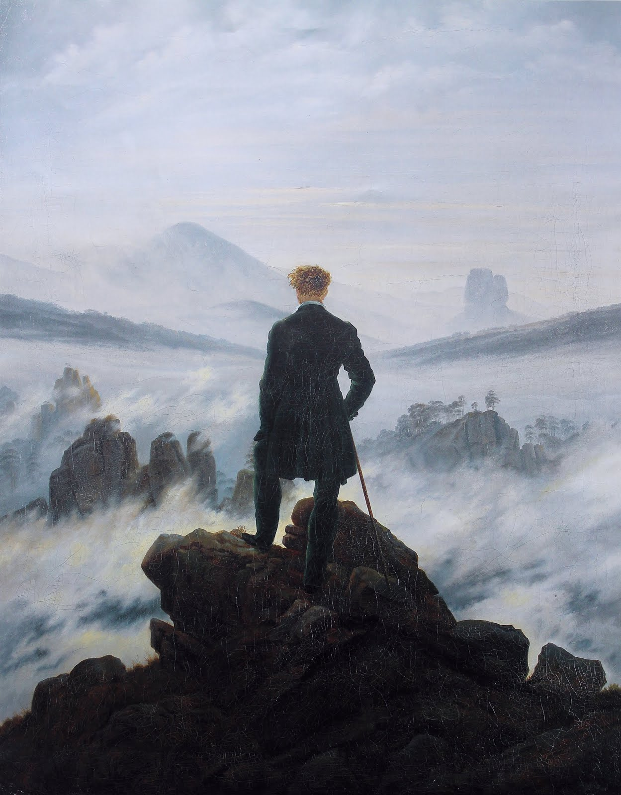 Caspar David Friedrich, Wanderer Above the Sea of Fog' (1818)