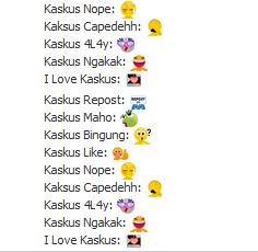 Kode Emoticon Kaskus di Facebook Terbaru