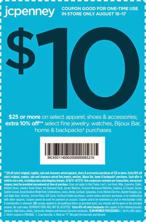 Jcpenney coupons code