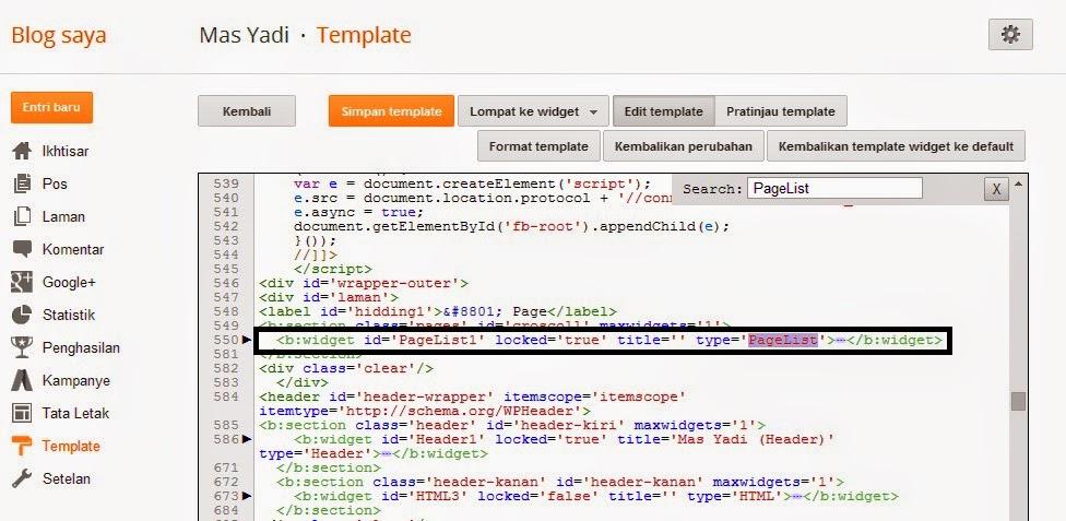 Cara Membuat Halaman Statis Disertai Title Otomatis di Blog