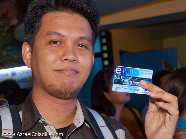 Chris A of CMABLOGS at the SM Cinema e-PLUS Card Launch at SM Megamall April 11, 2012