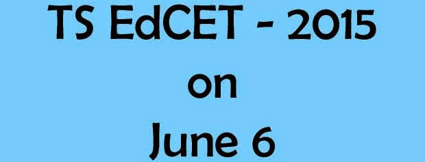 TS Ed.CET on June 6-Telangana Edcet 2015