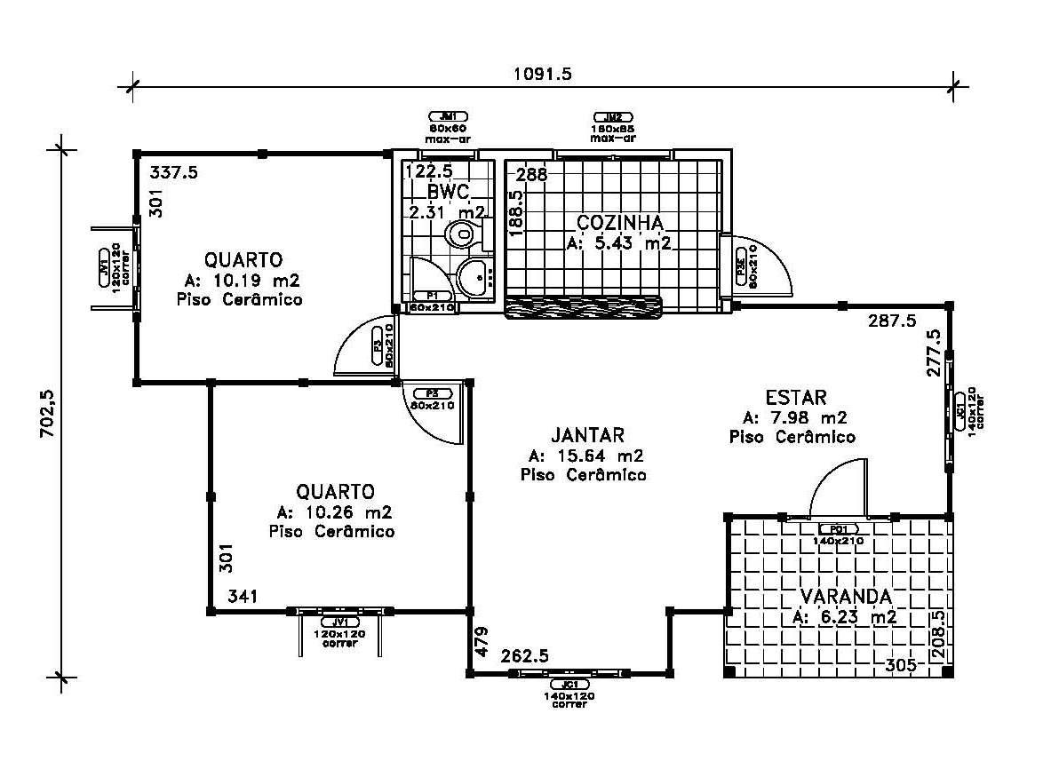 #282828  com 2 quartos Banheiro Cozinha Sala de estar e jantar e Varanda 1183x857 px projeto de quarto com banheiro e varanda