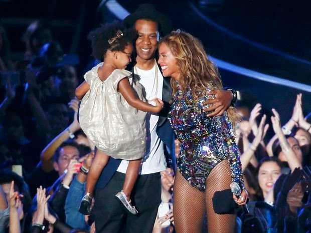 Beyoncé and Jay-Z's daughter, Blue Ivy, at the VMA in Los Angele