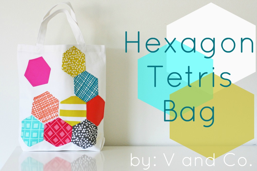 V and co v and co how to hexagon appliqued bag
