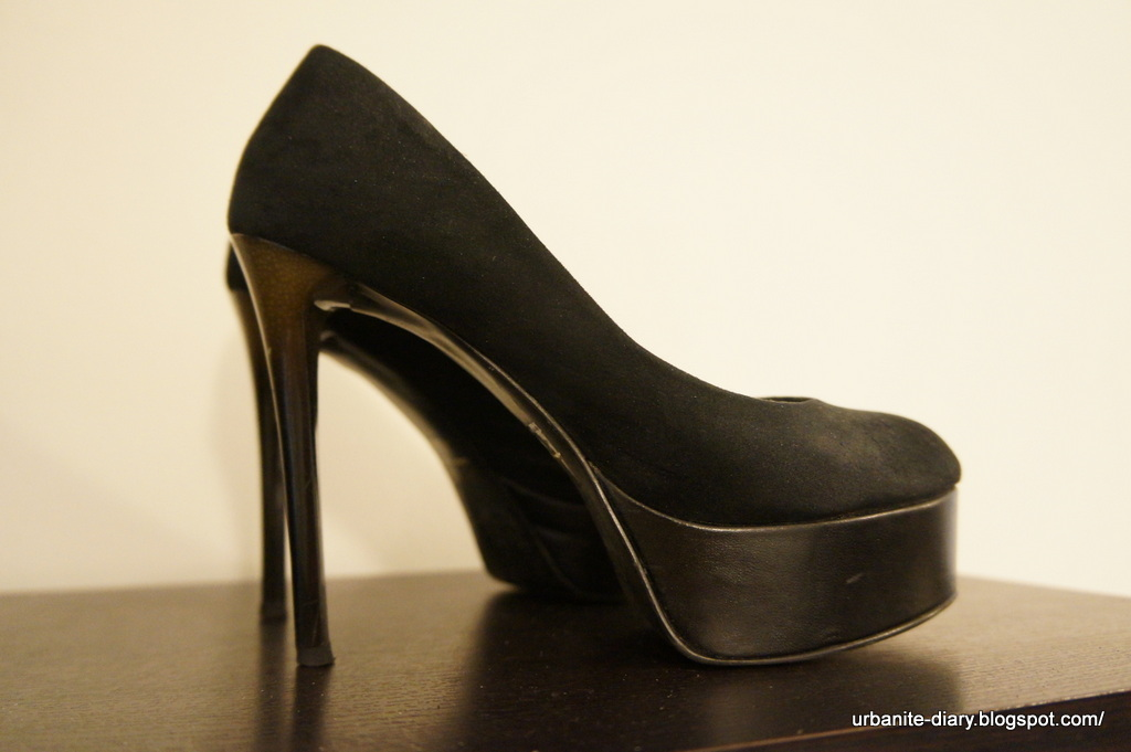 High Heels 102 - Charles & Keith Black Platform Pumps • Sassy ...