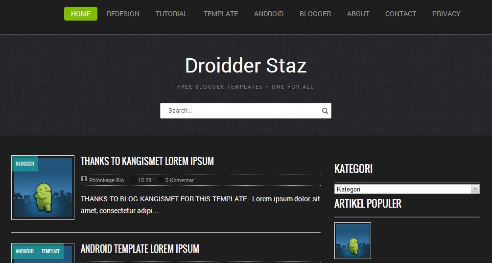 Droidder Staz