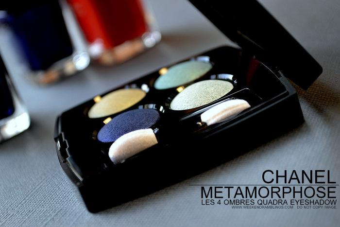 Chanel Metamorphose 44 Eyeshadow Quad - LÉté Papillon de Chanel Summer 2013 Makeup Collection - Photos Swatches Review FOTD