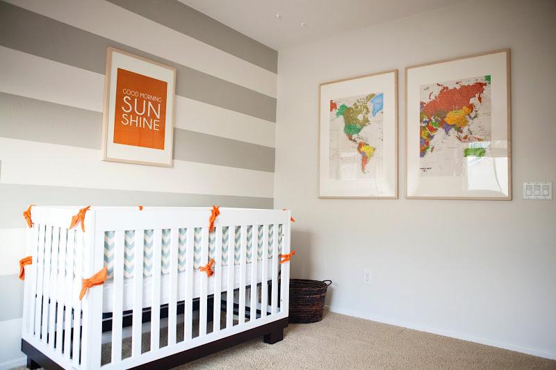 Chambre Orange Et Blanc : Jolie Chambre { orange , gris , blanc }  Cerise et Petits Pois