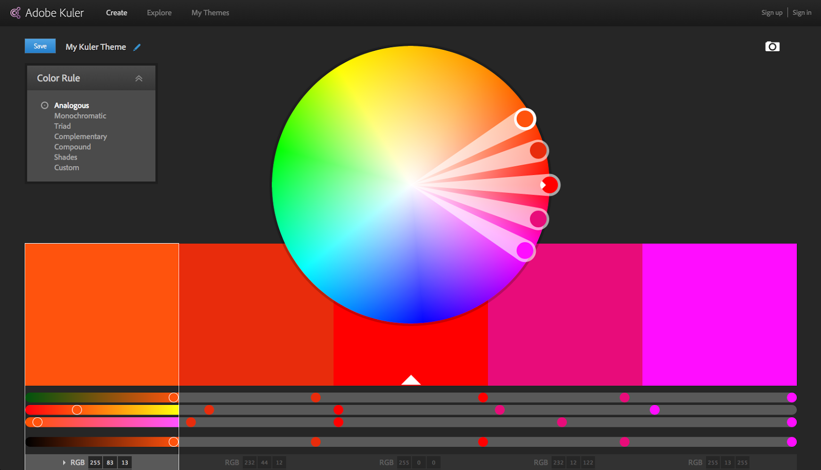 Web safe colors list - Robust Tool By Adobe Used For Picking Colors For Your Color Palette