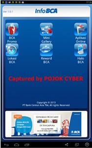 Tampilan Aplikasi Info BCA