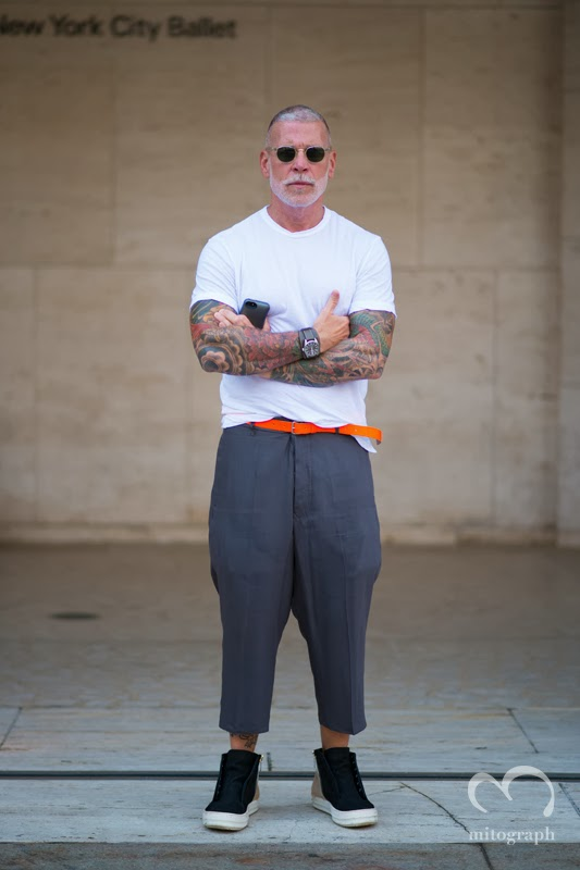 mitograph Nick Wooster at Lincoln Center New York Fashion Week 2014 Spring Summer NYFW Street Style Shimpei Mito