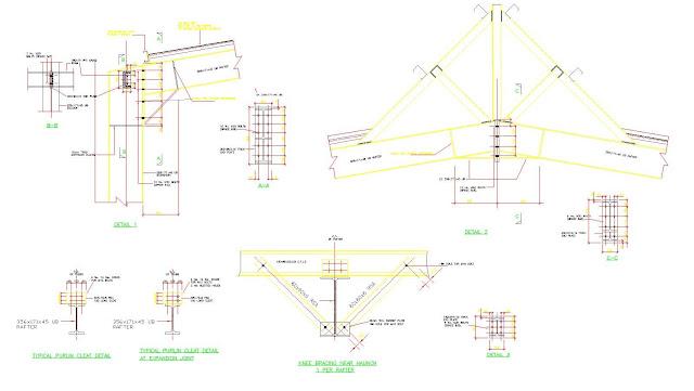 Engineering et architecture plan autocad d 39 un portique en - Maison simple aux details rustiques en pologne ...