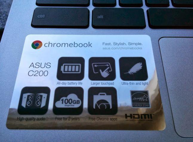 Laptop Asus C200 Chromebook
