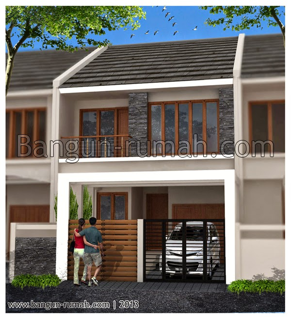 Desain Rumah Minimalis 2 Lantai Lebar 9 Meter