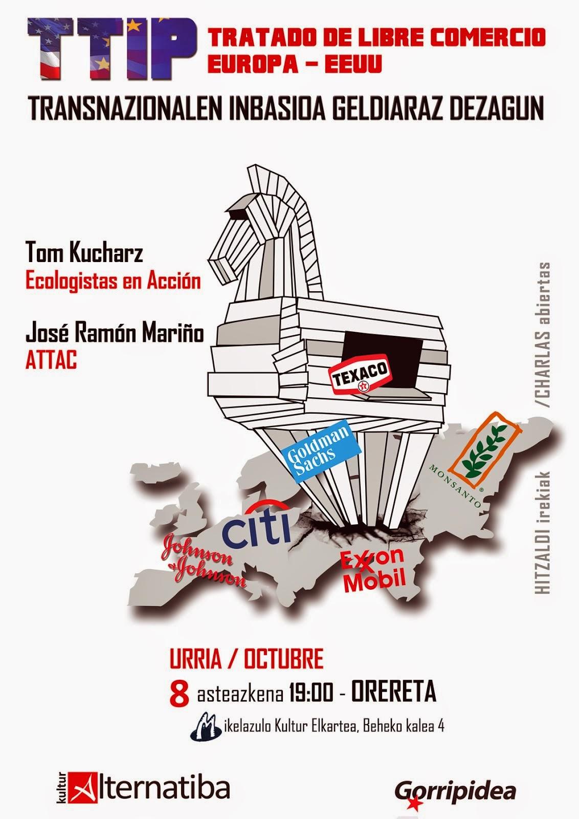 TTIP geldiaraz dezagun !!!Urriak 8