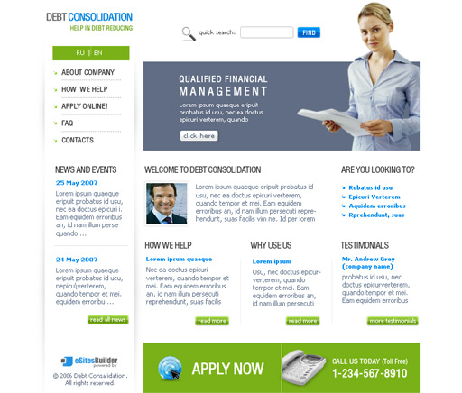 Accounting Website Templates1