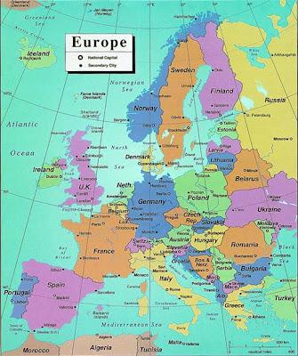 Landkaart Europa Afbeelding
