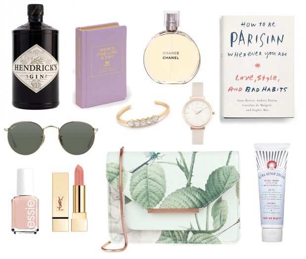 Mother's, Day, gifts, sunglasses, perfume, watch, purse, lipstick