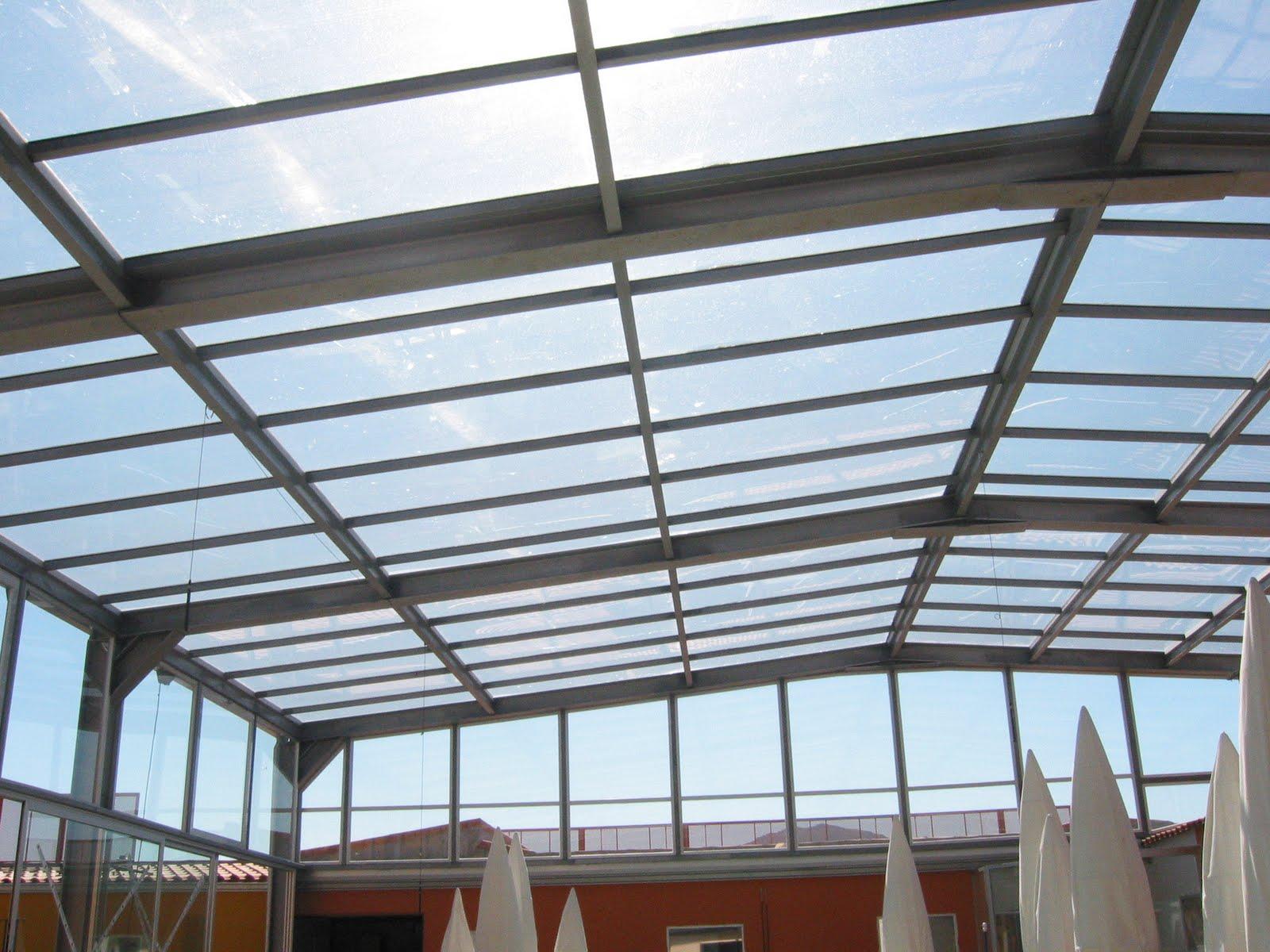 Techo fijo de vidrio para piscina fotos de cubiertas - Vidrio de policarbonato ...