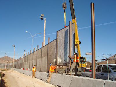 Border Fence Under Construction - Source: http://www.cbp.gov/newsroom/photo-gallery/photo/2013/11/southwest-border-fence-construction-progress-7