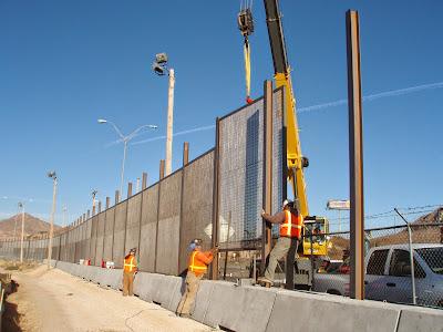 Border Fence Under Construction - Source: http://www.cbp.gov/newsroom/photo-gallery/photo/2013/11/southwest-border-fence-construction-progress-7