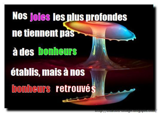 Citation joie en image