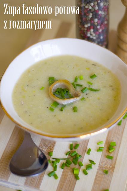 Zupa z pora i fasoli