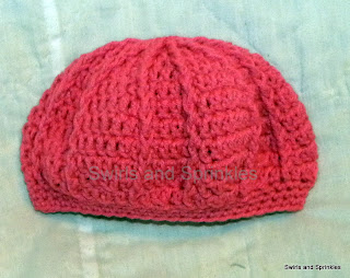 Swirls and Sprinkles: Crochet ribbed beret hat