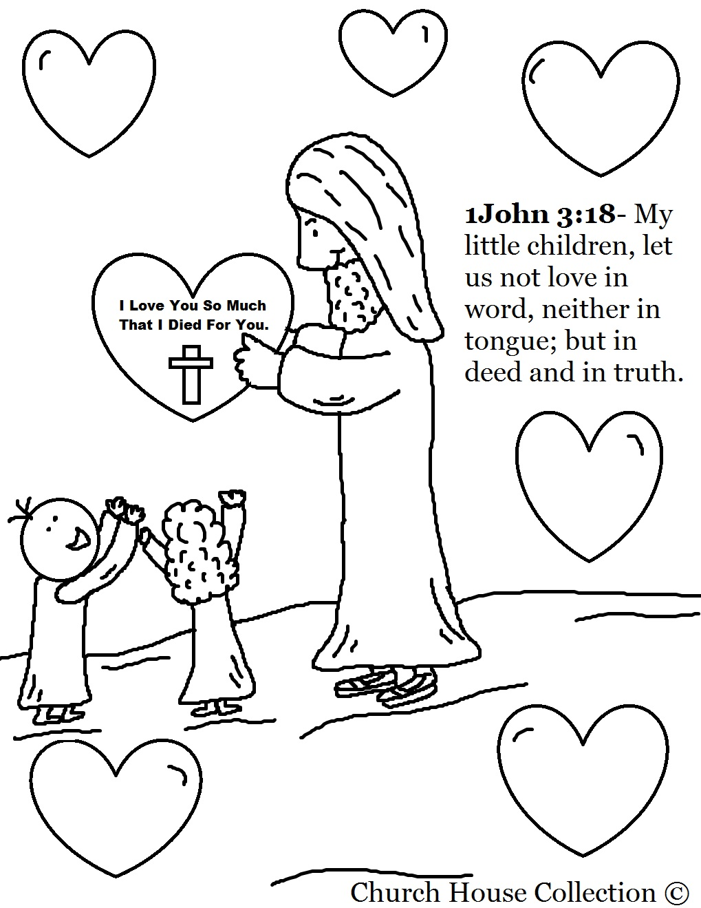 jesus valentine coloring pages - photo#2