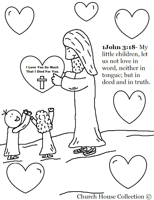 preschool sunday school coloring pages - jesus color by number coloring pages