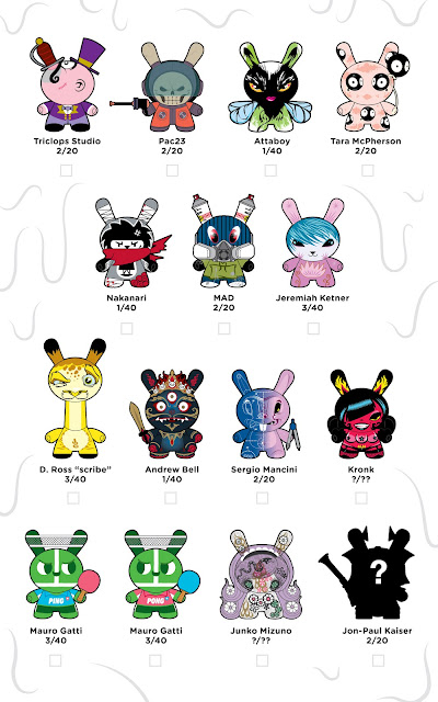 Official Dunny Series 2012 Checklist & Ratios