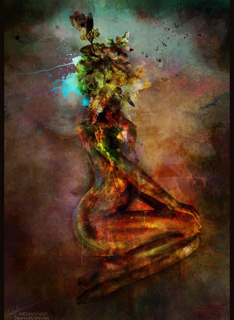 Pintura digital de mujer