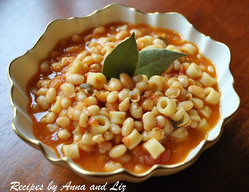 ... Recipes... by Anna and Liz: Italian White Bean Soup- Pasta e Fagioli