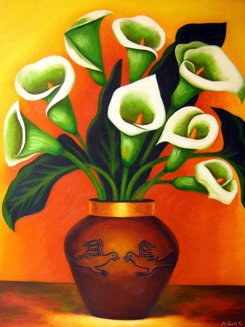 Marco costa artista visual pinturas de calas for Disenos de jarrones