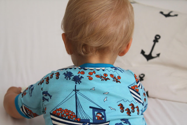 Smafalk T-Shirt Ships Sea Detail baby curls