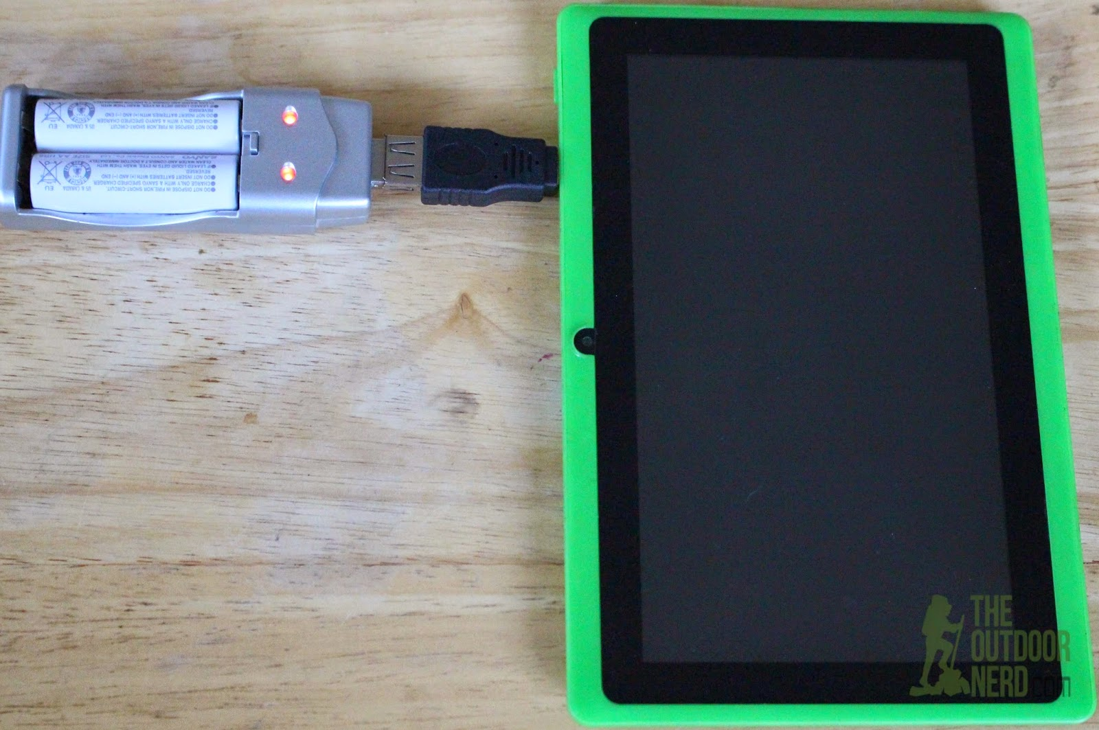 Tablets for Survival: Tablet Charging 2 Eneloop AA Batteries