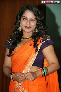Actress Vyjayanthi  Pictures in Saree at Jamaai Movie Audio Launch  0008