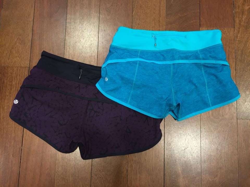 lululemon black cherry speed short