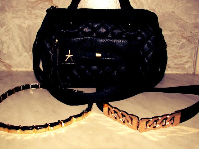 Primark Haul Frankfurt Nordwestzentrum -  Madame Keke Fashion & Style Blog - Quilted Bowling Bag, Elastic Metall Plate Belt, Chain Detail Belt