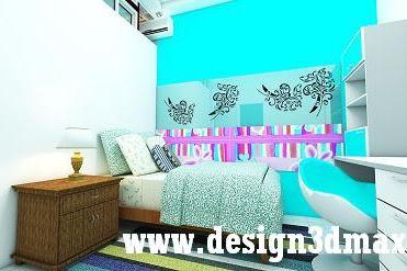 Desain interior kamar anak laki laki ruang tengah