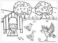 Mewarnai Gambar Ayam Dan Bebek