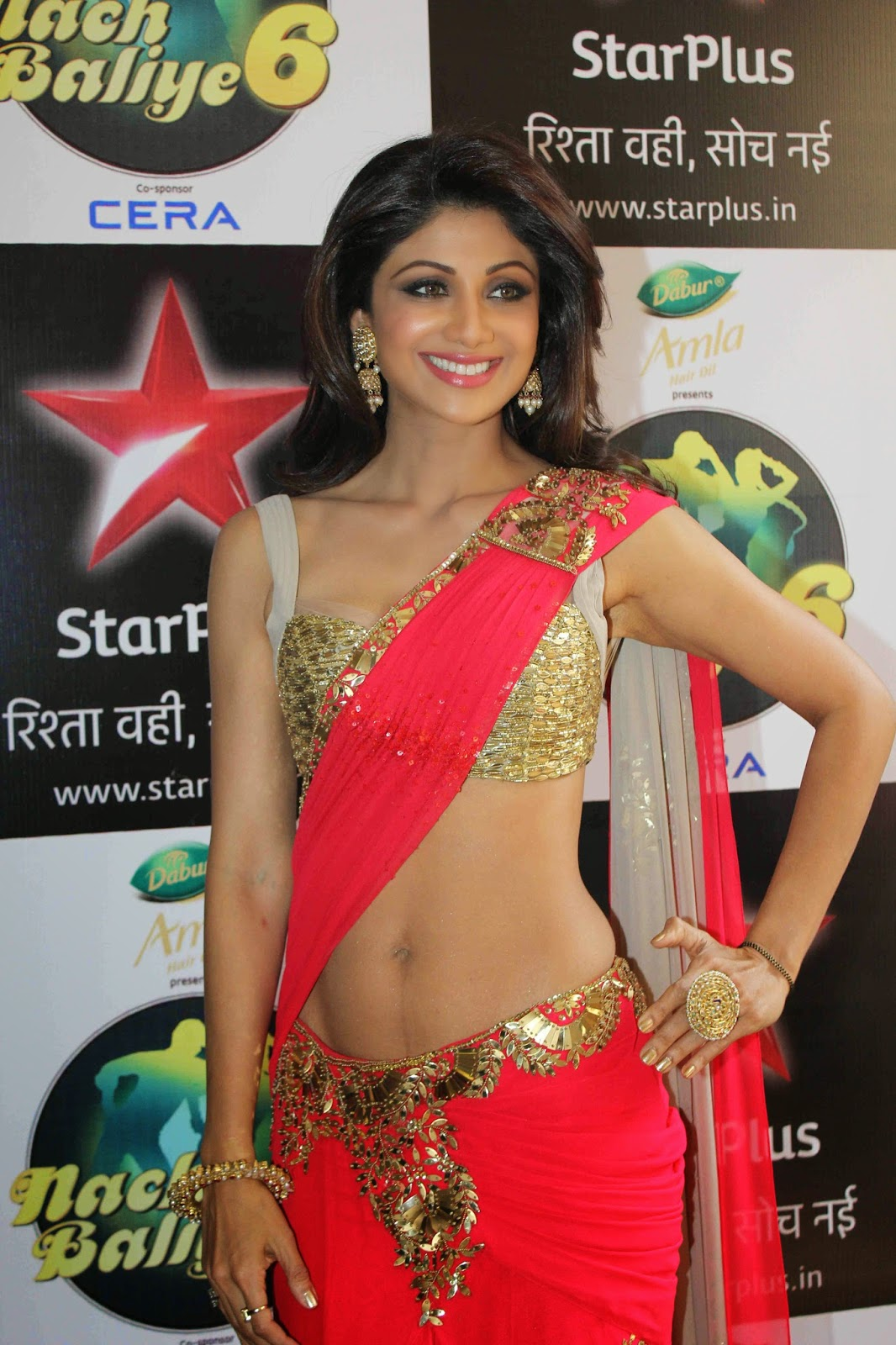 Bollywood Actress Saree Collections Shilpa Shetty In