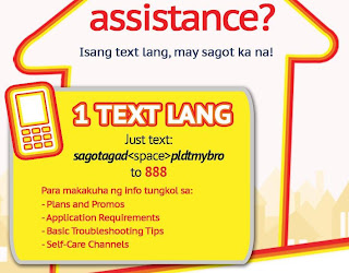 PLDT myBRO text Assistance