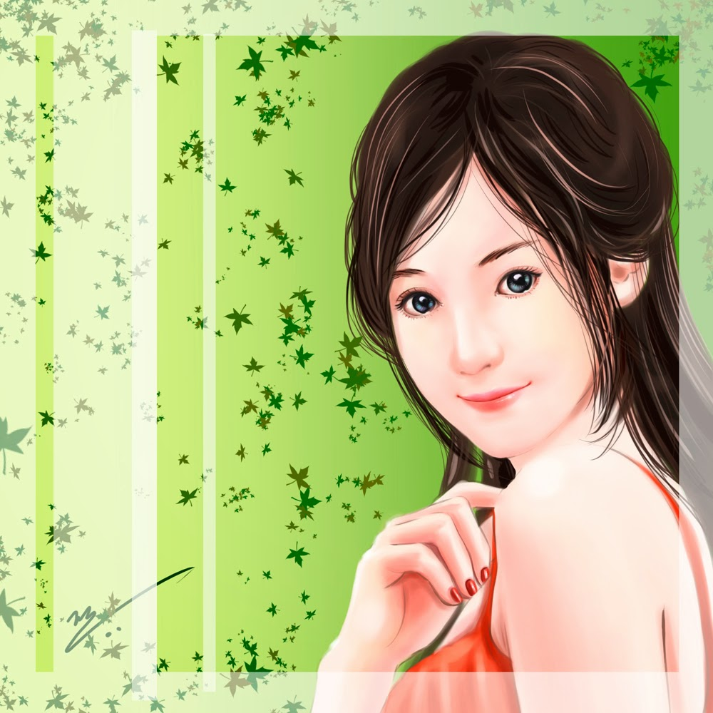 My artworks chinese girl paintings just take a base reference of the face rest of it my own creation voltagebd Image collections