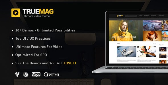 Free Download True Mag V4.0.6 WordPress Theme for Video and Magazine